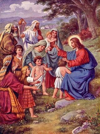 Αποτέλεσμα εικόνας για ο Χριστός και τα παιδιά